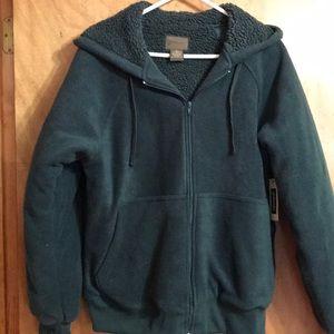 Hooded jacket fleeced lined men's small